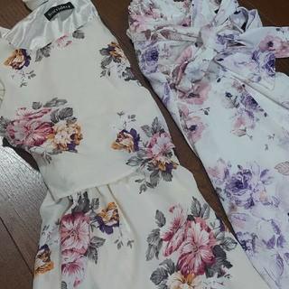 シマムラ(しまむら)のしまむら まとめ売り 春服 春物 花柄 ワンピース スカート(ひざ丈スカート)