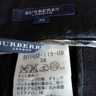 BURBERRY - バーバリー三陽商会ズボン女性黒