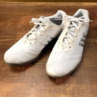 アディダス(adidas)のadidas アディダス ゴルフ スパイクシューズ女性24.5cm 予備付属あり(シューズ)