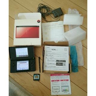 ニンテンドーDS(ニンテンドーDS)の ニンテンド-DS LITE クリムゾン/ブラック(おまけ付き)(携帯用ゲーム機本体)