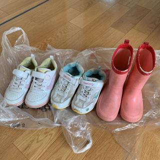 ニシマツヤ(西松屋)の子供用スニーカー 2足 18cm・17.5cm 長靴 19cm(長靴/レインシューズ)