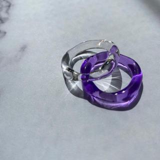 フィリップオーディベール(Philippe Audibert)のクリアパープルリング(リング(指輪))