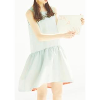 ハコ(haco!)のpilvee haco! ふんわりワンピース アクセントカラー(ひざ丈ワンピース)