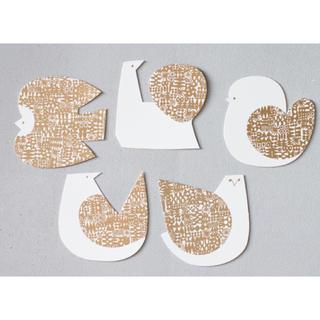 イデー(IDEE)のバーズワーズ メッセージカード ゴールド 5枚セット(その他)