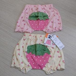 ニシマツヤ(西松屋)の二枚組‼️  一分丈スパッツ  いちご柄パンツ(パンツ/スパッツ)