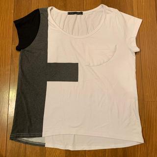 カウイジャミール(KAWI JAMELE)のKAWIJAMELE バイカラーTシャツ F(Tシャツ(半袖/袖なし))
