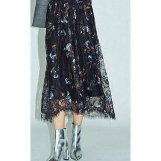 Ungrid - アングリッド 花柄レーススカート