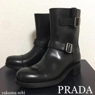PRADA - 新品 箱付き PRADA プラダ メンズ エンジニアブーツ ショートブーツ 黒