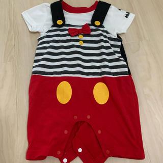 ディズニー(Disney)のベビー服(ミッキー)70センチ(カバーオール)