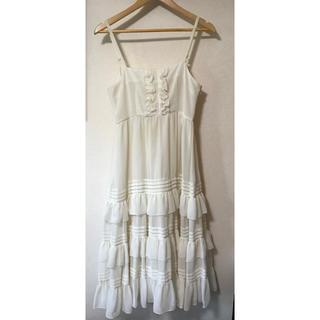 ヴィクトリアンメイデン(Victorian maiden)のシャーリングシフォンロングアンダードレス ヴィクトリアンメイデ(ロングワンピース/マキシワンピース)