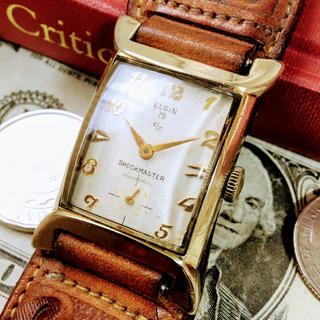 エルジン(ELGIN)の#596【落ち着いたデザイン】メンズ 腕時計 エルジン 動作良好 ヴィンテージ(腕時計(アナログ))