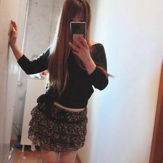 着画 5775⇒600円 花柄 ミニスカート 新品タグ