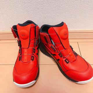 asics - 安全靴アシックスレッド26.5