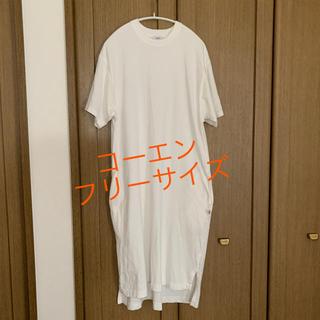 コーエン(coen)のコーエン coen Tシャツワンピース USA 綿100% フリーサイズ(ひざ丈ワンピース)