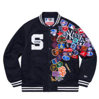 Supreme - supreme new era mlb varsity jacket