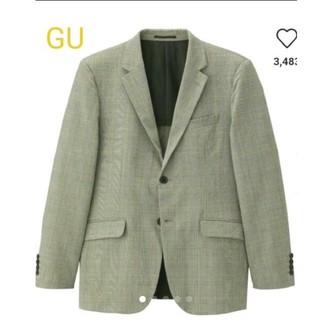 ジーユー(GU)のGU テーラードジャケット(グレンチェック)CL(セットアップ可能)(テーラードジャケット)