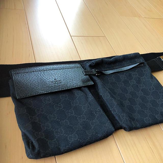 Gucci(グッチ)の【GUCCI】グッチ GGキャンバス ウエストバッグ メンズのバッグ(ボディーバッグ)の商品写真