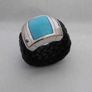 ◇限定販売◇イタリア製 シルバー ターコイズ×CZ ラバーリング (リング(指輪))