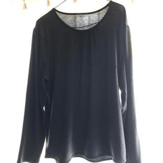 シマムラ(しまむら)のレディースTシャツ長袖4L  グレー長袖Tシャツ レディーストップス大きいサイズ(Tシャツ(長袖/七分))