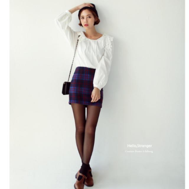 dholic(ディーホリック)のチェックパターンHラインミニスカート レディースのスカート(ミニスカート)の商品写真