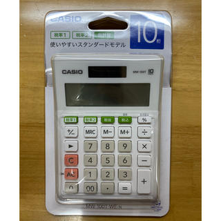カシオ(CASIO)のカシオ スタンダード電卓 W税率設定・税計算 ミニジャストタイプ 10桁(オフィス用品一般)