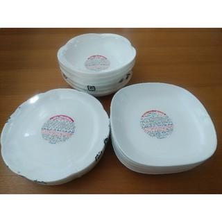 ヤマザキセイパン(山崎製パン)のヤマザキパン祭り 白いお皿 3種類・各6枚 計18枚 (新品・未使用)(食器)