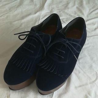 リゾイ(REZOY)のおすすめ!REZOY 厚底 ローファ ネイビー 24(ローファー/革靴)
