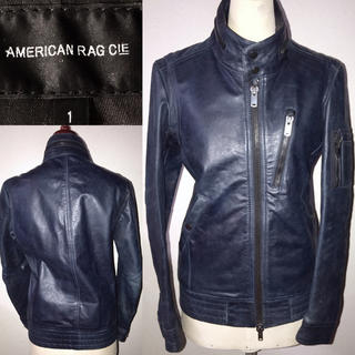 AMERICAN RAG CIE - アメリカンラグシー送料込¥定価6万程レザージャケット山羊革ライダースミリタリー系