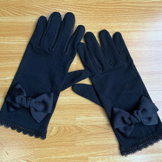 UVレース手袋  ブラックリボン