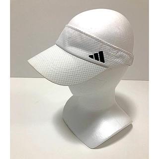 アディダス(adidas)の●adidasアディダス/サンバイザー 白 頭囲57~60 ゴルフ (サンバイザー)