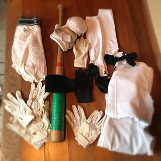 SSK - 野球道具セット  バット バッテ、守備手、リスト、練習着