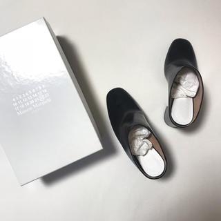 マルタンマルジェラ(Maison Martin Margiela)の60%OFF!新品♡Margiela マルタンマルジェラ♡サボ サンダル 靴 黒(サンダル)