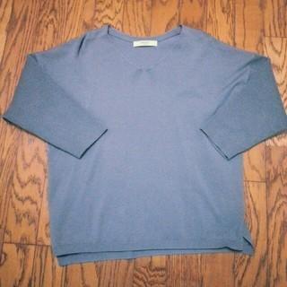 スーツカンパニー(THE SUIT COMPANY)のブルーグレイのvネックニット(ニット/セーター)