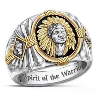 インディアン ネイティブアメリカン 戦士の精神 先住民 リング 24号(リング(指輪))