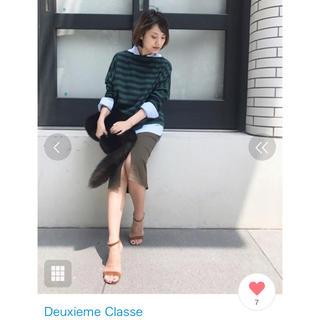 DEUXIEME CLASSE - ドゥーズィエムクラス  2.2万High-Strech タイトスカート ブラウン