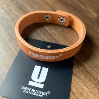 アンダーカバー(UNDERCOVER)のUNDERCOVER レザーブレス ブラウン [Sサイズ] GST6A01-1(バングル/リストバンド)