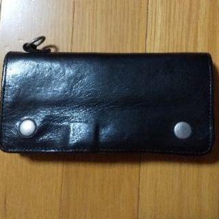 イサムカタヤマバックラッシュ(ISAMUKATAYAMA BACKLASH)のイタリーショルダー製品染め財布(長財布)