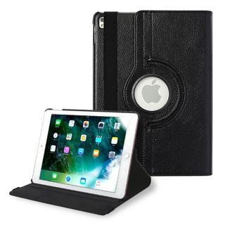 iPad 第7世代 10.2インチ ブラック 360度回転機能 レザーケース(iPadケース)