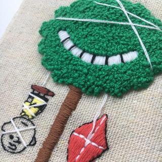 スヌーピー(SNOOPY)のチャーリーブラウン 刺繍 ハンドメイド(アート/写真)