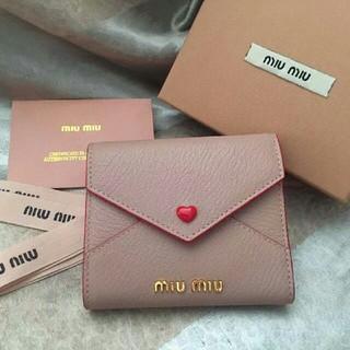 miumiu - ミュウミュウ ラブレター ミニウォレット ミニ財布