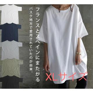 アンティカ(antiqua)の新品未使用 バスクTシャツ アンティカ antiqua サイズXL(Tシャツ(長袖/七分))
