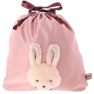 メゾンドフルール(Maison de FLEUR)のメゾンドフルール ラビット巾着 ピンク(ポーチ)