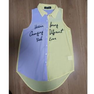 セシルマクビー(CECIL McBEE)のCECIL McBEE シフォンシャツ M(シャツ/ブラウス(半袖/袖なし))