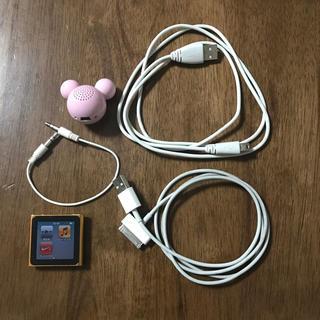 Apple - iPod nano・スピーカー(ミッキー型)・コード3種類