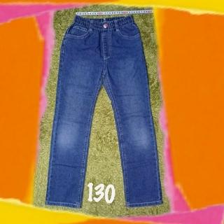 しまむら - 130 ポケットハート刺繍ジーパン