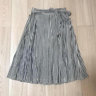 エベルモーション(EBELE MOTION)のストライプ フレアスカート(ひざ丈スカート)