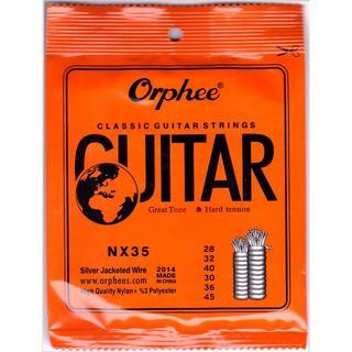 ★クラシックギター ナイロン・スチール弦 6本セットNX35(弦)