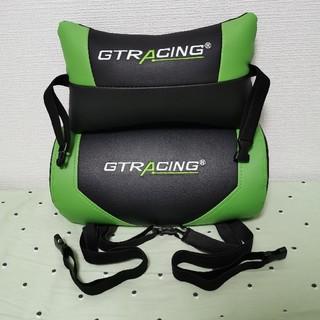 GTRacing ヘッドレスト+ランバーサポート セット ゲーミングチェア用 緑(デスクチェア)
