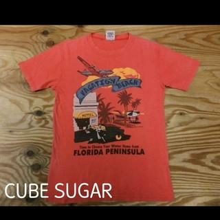 CUBE SUGAR - CUBE SUGAR 状態良好 サマープリント オレンジ ?… う~ん 朱色?