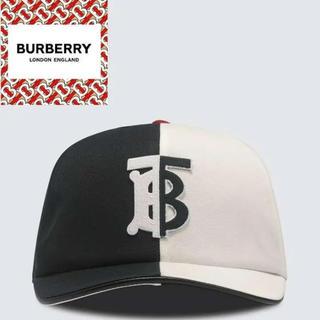 バーバリー(BURBERRY)のBURBERRY モノグラムモチーフ ツートンコットン ベースボールキャップ(キャップ)